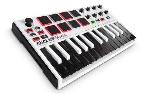 MPK Mini II - 25 Note Keyboard/Drum Pad Controller - White