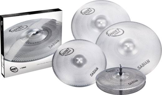 Quiet Tone Practice Cymbals - 14'' Hats, 16'' & 18'' Crash, 20'' Ride