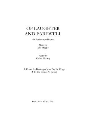 Of Laughter and Farewell -  Lindsay/Heggie - Baritone Voice/Piano
