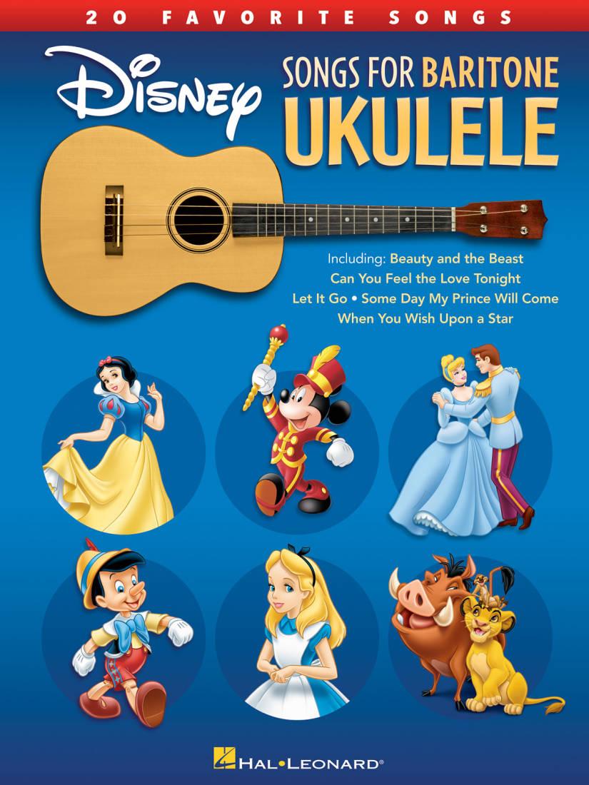 Hal Leonard Disney Songs For Baritone Ukulele: 20 Favorite Songs - Book