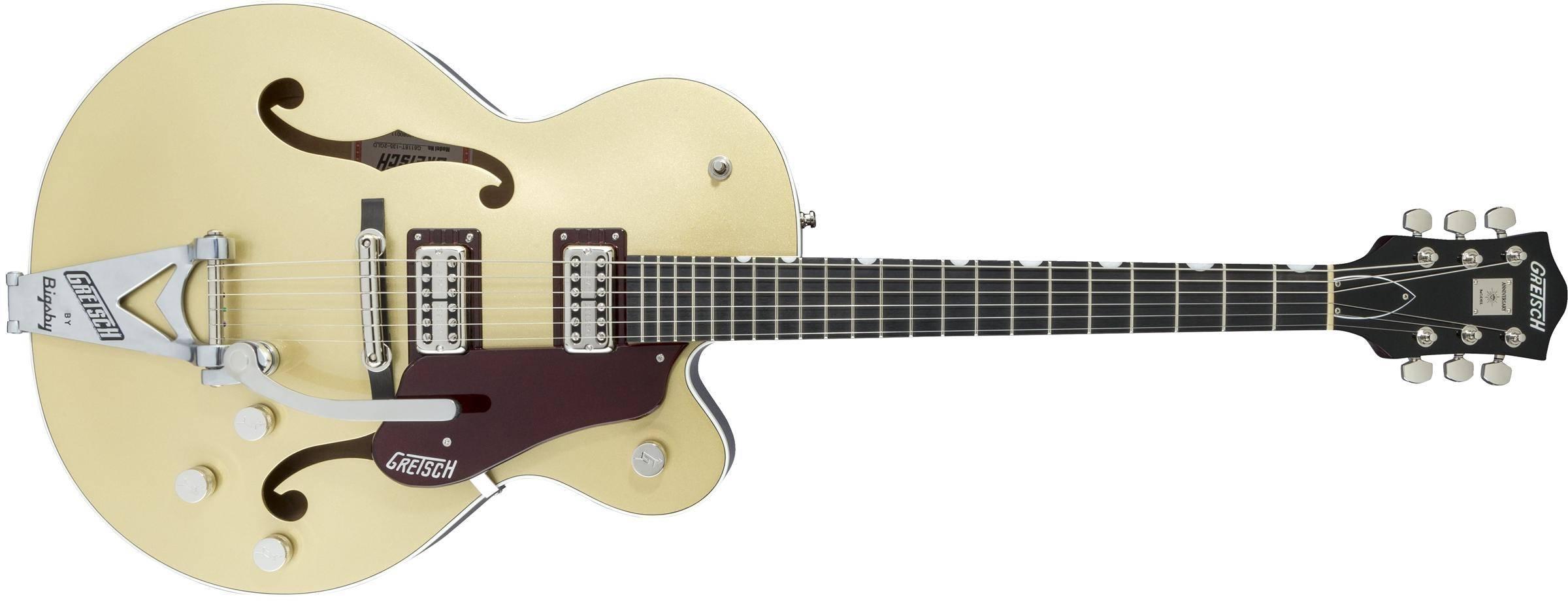8f9b0ff82d Gretsch Guitars 135th Anniversary LTD G6118T-135 With Bigsby, Ebony  Fingerboard - Two-Tone Casino Gold/Dark Cherry - Long & McQuade Musical  Instruments
