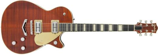 G6228FM Players Edition Duo Jet Single Cutaway with ''V'' Stoptail - Bourbon Stain