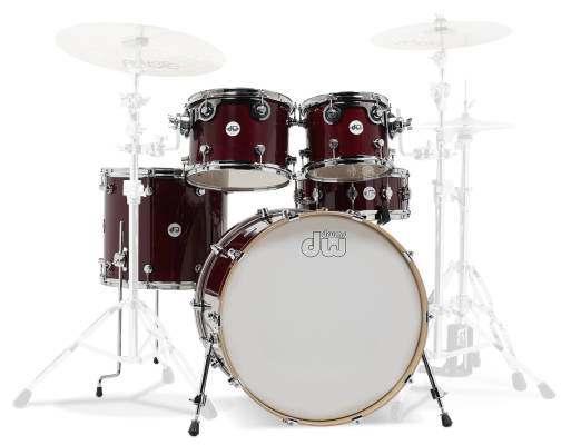 Design Series 5-Piece Shell Pack (22,10,12,16, Snare) - Cherry Stain