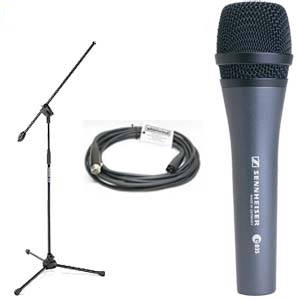 E835 Mic with 5 Meter Cable and Boom Stand