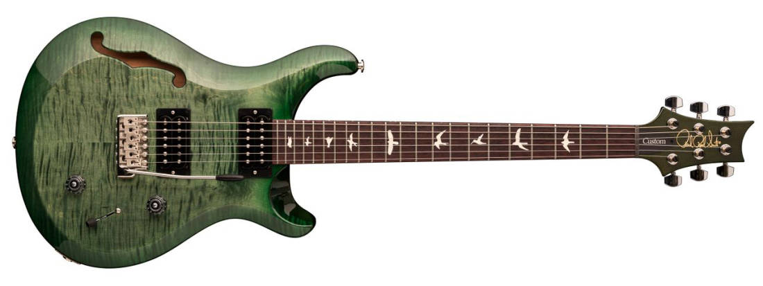 paul reed smith 2018 s2 custom 22 semi hollow electric guitar moss green long mcquade. Black Bedroom Furniture Sets. Home Design Ideas