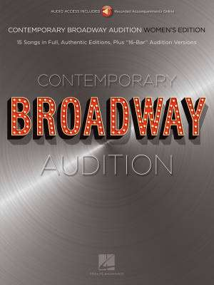 Contemporary Broadway Audition: Women's Edition - Book/Audio Online