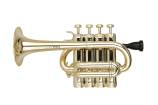 Cool Wind - 4 Valve Plastic Piccolo Trumpet - Brass Finish