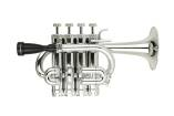 Cool Wind - 4 Valve Plastic Piccolo Trumpet - Silver Finish