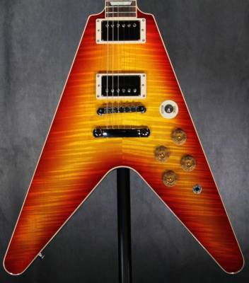 Flying V Maple-Top Standard - Washed Cherry