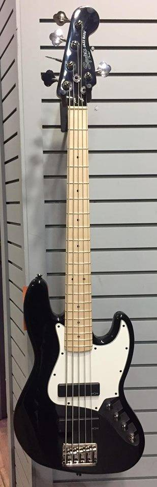 squier contemporary active jazz bass v hh black long mcquade musical instruments. Black Bedroom Furniture Sets. Home Design Ideas
