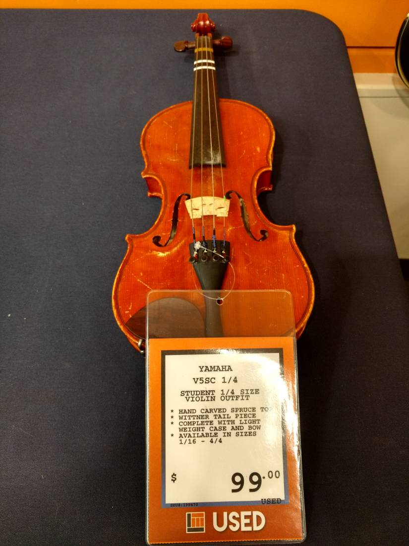 Yamaha v5 violin outfit 1 4 size long mcquade musical for Yamaha vc5 cello review