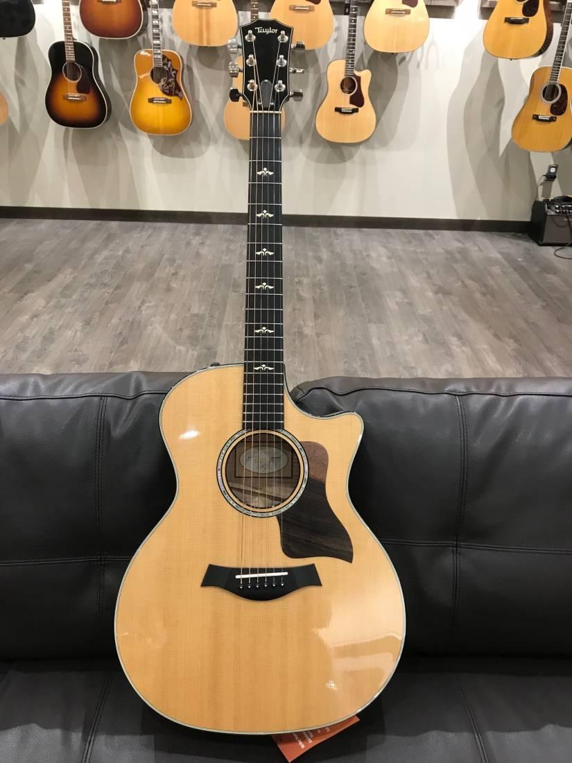 taylor guitars grand auditorium spruce maple acoustic electric guitar w case long mcquade. Black Bedroom Furniture Sets. Home Design Ideas