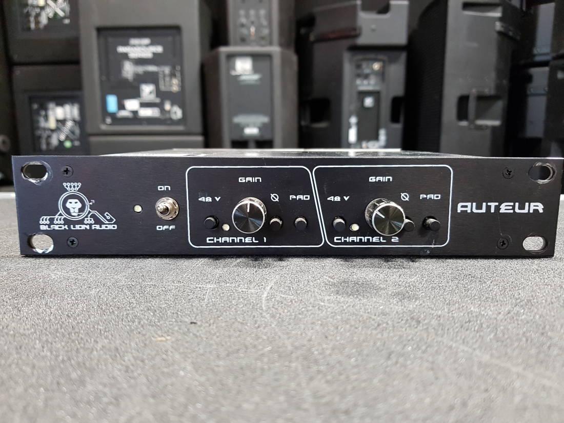 Black Lion Audio Auteur Dual Channel 1 2 Rack Microphone Preamplifier Store Special Product