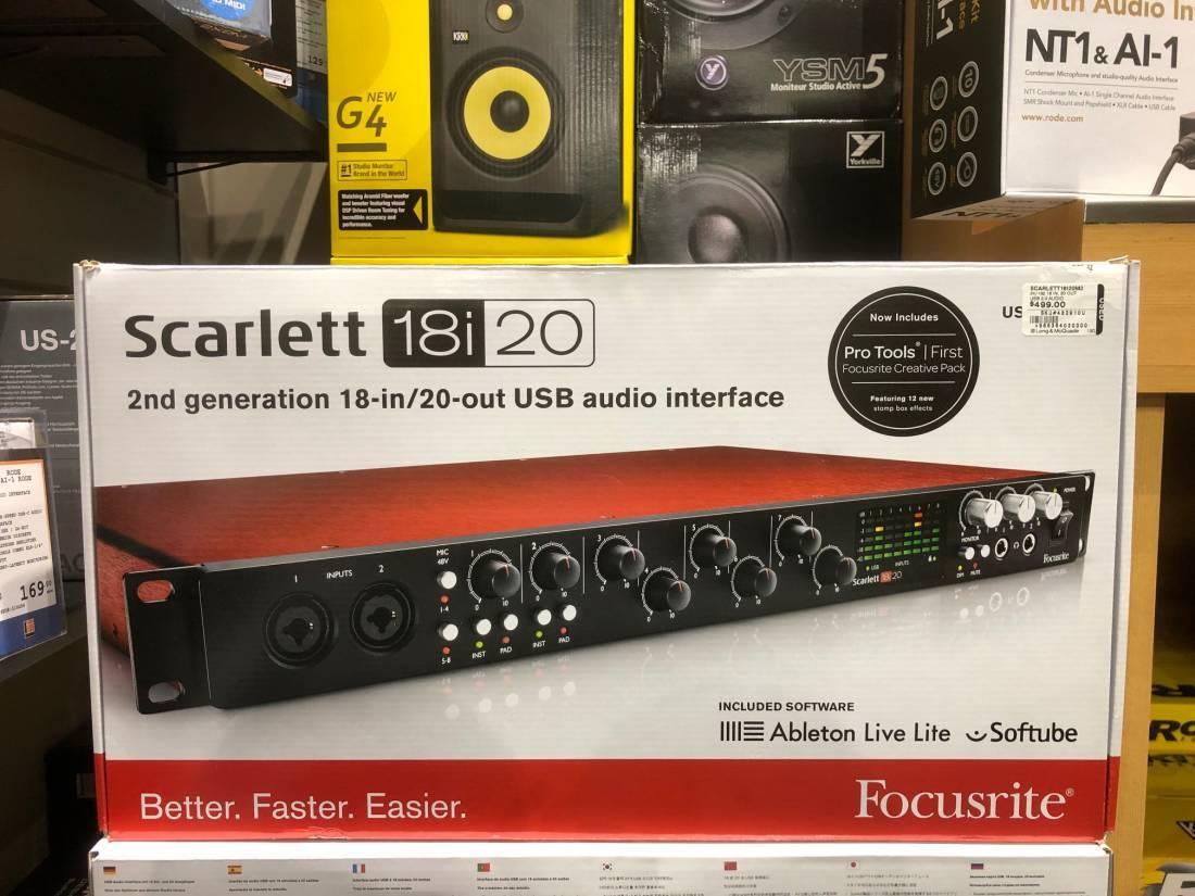 Scarlett 18i20 Gen2 - 24/96, 18 In/20 Out, USB 2 0 Audio Interface