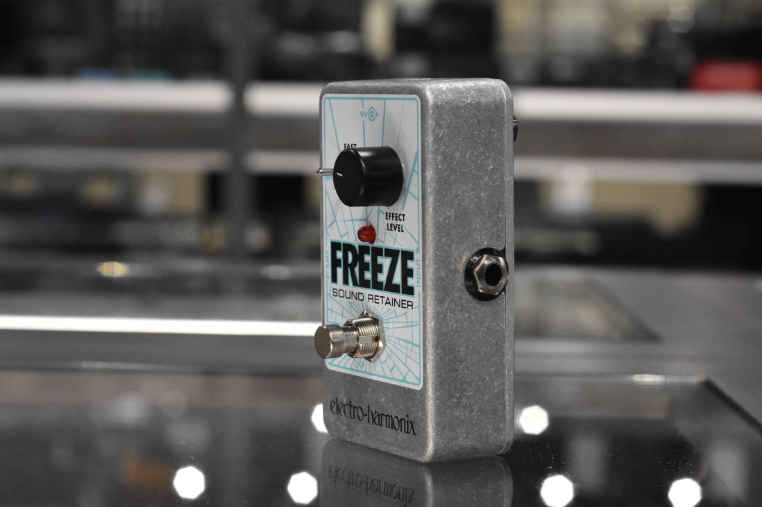 electro harmonix freeze sound retainer pedal long mcquade musical instruments. Black Bedroom Furniture Sets. Home Design Ideas