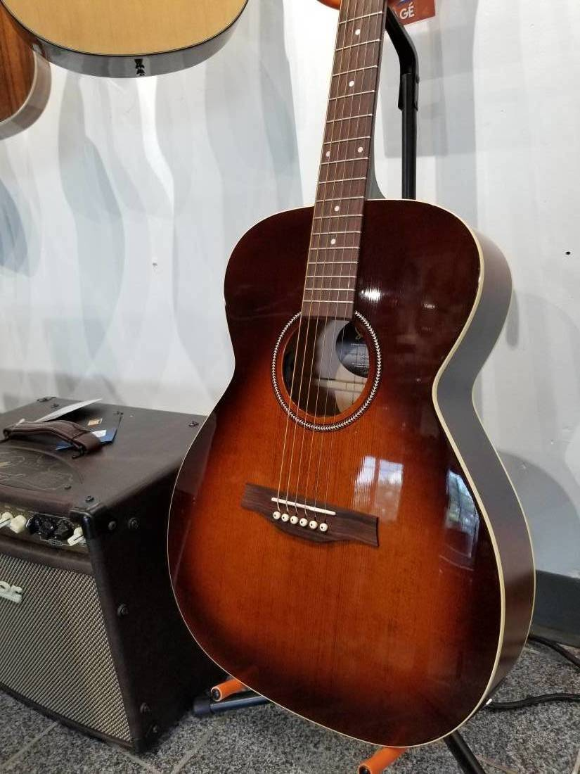 seagull guitars s6 slim concert hall acoustic electric guitar burnt umber long mcquade. Black Bedroom Furniture Sets. Home Design Ideas
