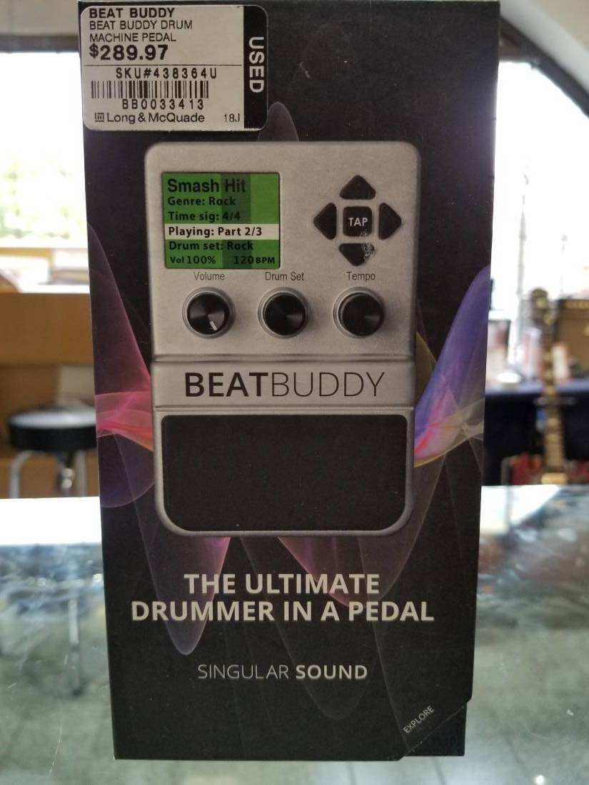beatbuddy drum machine pedal long mcquade musical instruments. Black Bedroom Furniture Sets. Home Design Ideas