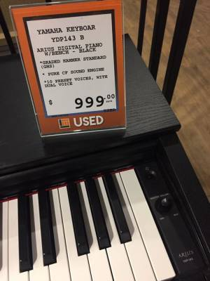 Store Special Product - (USED) Yamaha Arius YDP-143 Black Digital Piano w/Bench