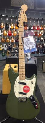 (SPECIAL) Fender Mustang, Maple Fingerboard - Olive