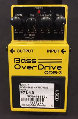 (USED) BOSS ODB-3 Bass Overdrive Pedal
