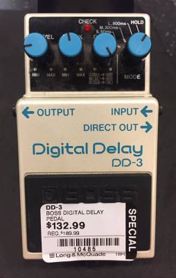 Store Special Product - BOSS DD-3 DIGITAL DELAY PEDAL (DEMO MODEL)