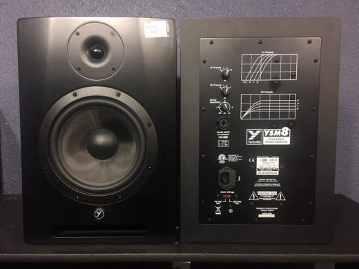 (USED) Yorkville Sound YSM8 High Performance Powered Studio Reference Monitor (Two available)