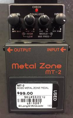 (USED) BOSS MT-2 Metal Zone Distortion Pedal