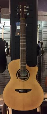 Luna WABI SABI Grand Concert Solid Top Acoustic Electric Guitar - Satin Natural