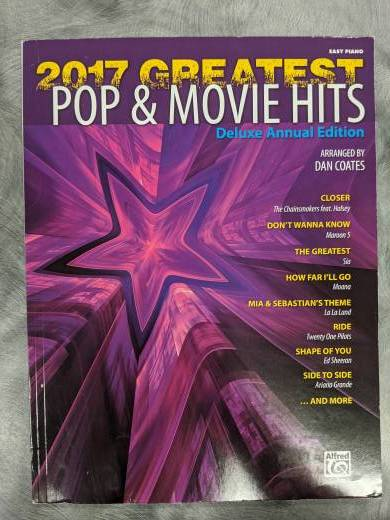 2017 Greatest Pop & Movie Hits: Deluxe Annual Edition - Coates - Easy Piano - Book