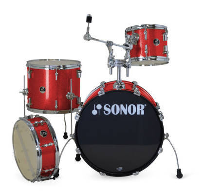 SONOR 4PCE PLAYER KIT IN RED GALAXY SPARKLE