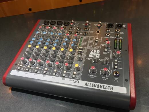 ALLEN & HEATH ZED-10FX - 10 Channel Live/Recording Mixer with USB & FX