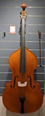 Store Special Product - 3/4 Carved Double Bass Outfit with Case and Bow