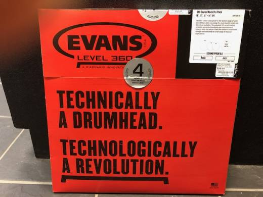 Evans UV1 Rock Pack - 10/12/16+14'' UV1 - with Custom Bass Inked Card (DEMO)