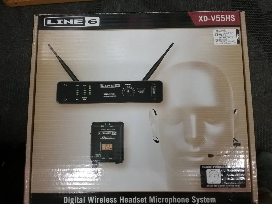 Line 6 XD55HS Digital Wireless Headset Mic System