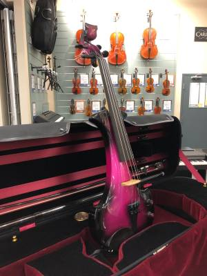 Bridge Aquila Electric Violin - Black/Purple