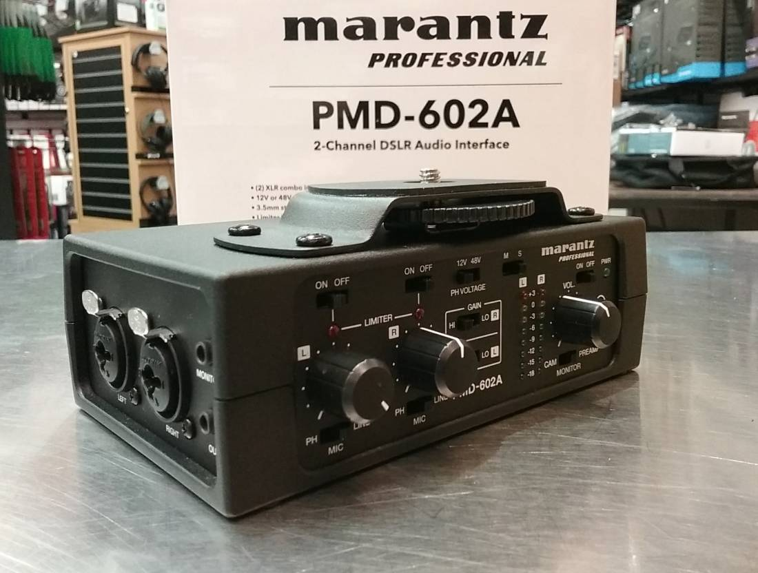 PMD-602A 2-Channel DSLR Audio Preamp