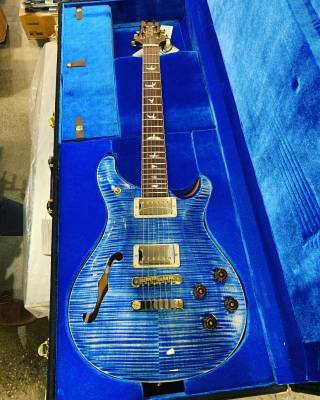 PRS (USA) McCarty 594 Artist Package Wood Library Semi-Hollowbody - Faded Blue Jean