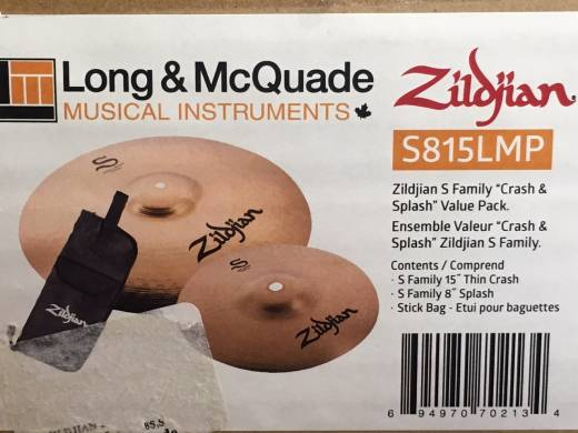 Long and McQuade Exclusive Limited Edition Zildjian S-Series Pack w/Stick Bag