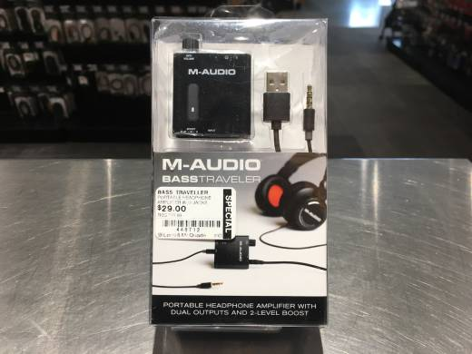 M-Audio Bass Traveller Portable Headphone Amplifier w/2 Jacks