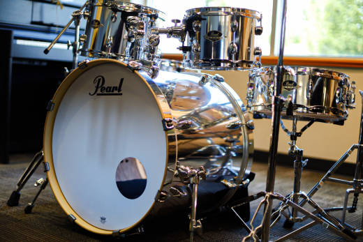 Pearl Export EXX 5 Piece Drum Kit Mirror Chrome