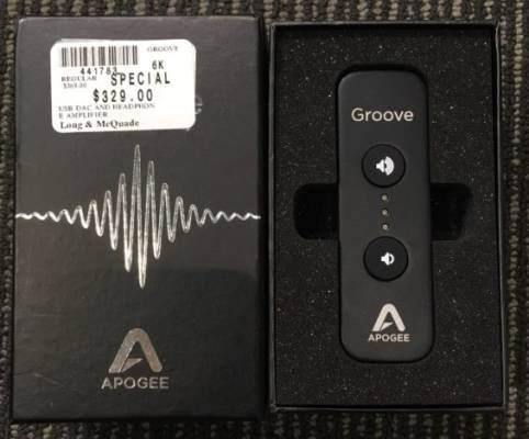 APOGEE GROOVE USB DAC AND HEADPHONE AMPLIFIER