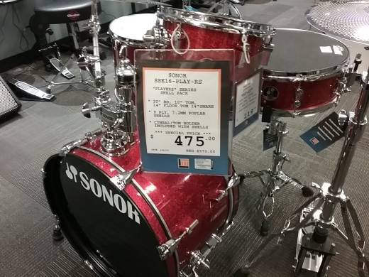 SSE 16 Player 4 Piece Shell Pack - Red Galaxy Sparkle