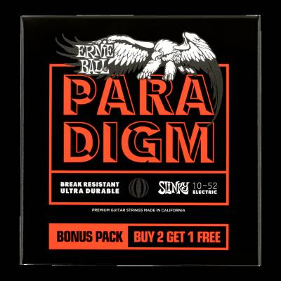 Ernie Ball Paradigm Electric Guitar Strings - 10-52 - 3-Pack