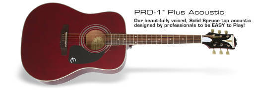 Epiphone Pro-1 Plus Acoustic - Wine Red