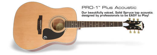 Epiphone Pro-1 Plus Acoustic - Natural