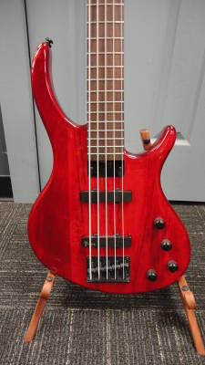 Store Special Product - Toby Deluxe V 5-String  Bass in Trans Red