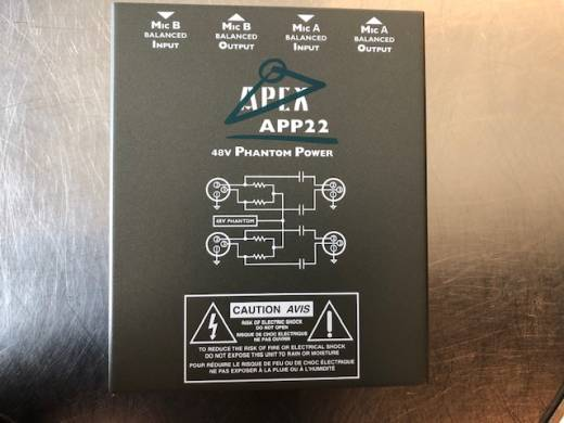 Apex Dual Channel 48 Volt Phantom Power Supply