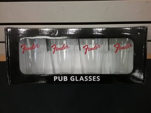 Red Logo Pint Glasses Set of 4