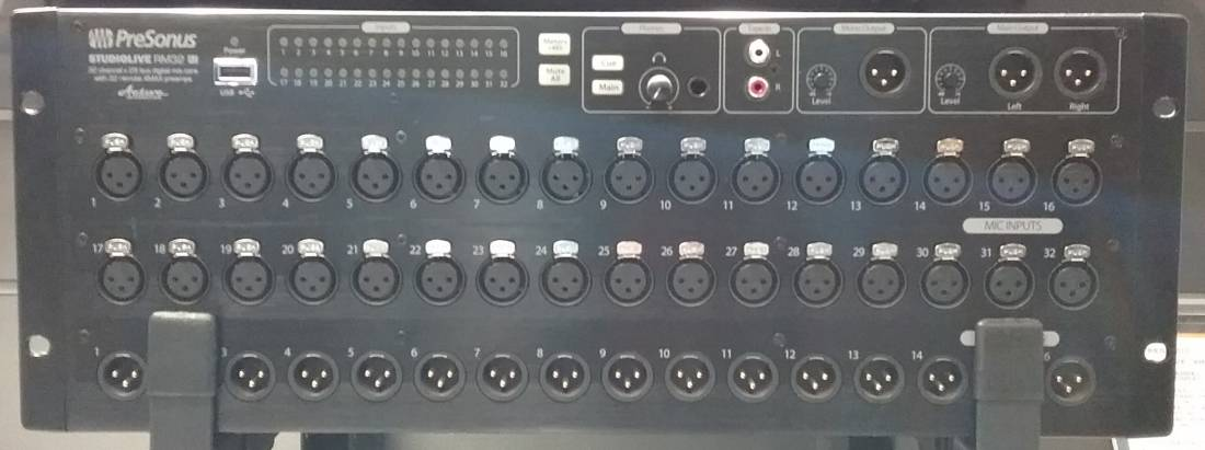 32 Channel Rackmounted Studiolive AI Mixer