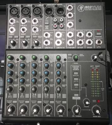 Mackie 8 Channel Mixer - 802-VLZ4